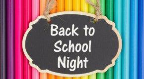 Back to School Night - 7/18/18 - 6-7pm